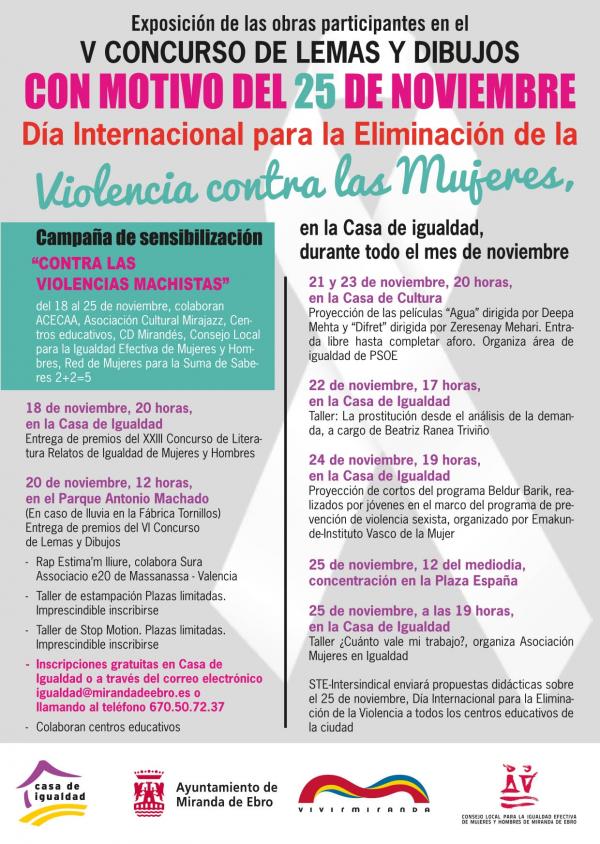 Ayuntamiento de Miranda de Ebro Programa de actividades de \